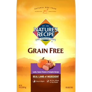 Nature's Recipe Grain Free Easy to Digest Lamb, Sweet Potato & Pumpkin Dry Dog Food