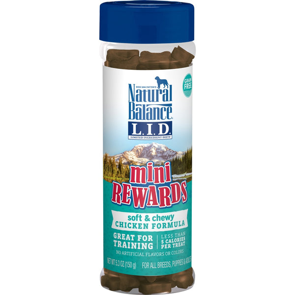 Natural Balance L.I.D Mini Rewards Soft & Chewy Chicken Recipe Dog Treats