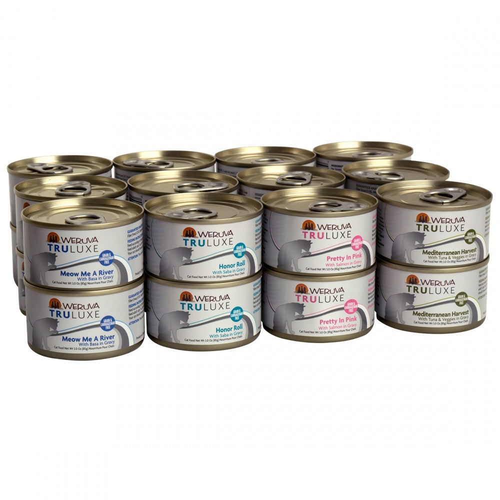 Weruva TruLuxe Grain Free TruSurf Canned Cat Food Variety Pack