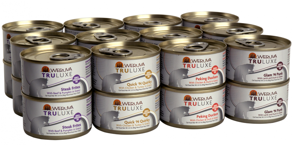 Weruva TruLuxe Grain Free TruTurf Canned Cat Food Variety Pack