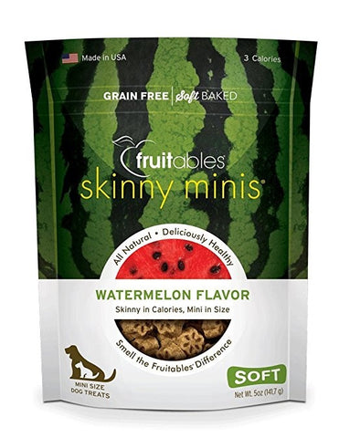 Fruitables Skinny Minis Chewy Watermelon Dog Treats