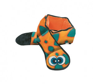 Outward Hound Invincibles Snakes Orange/Blue Squeak Dog Toy