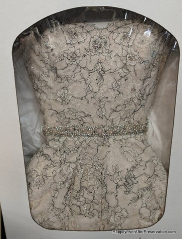 Example of gown in preservation box | HappilyEverAfterPreservation.com