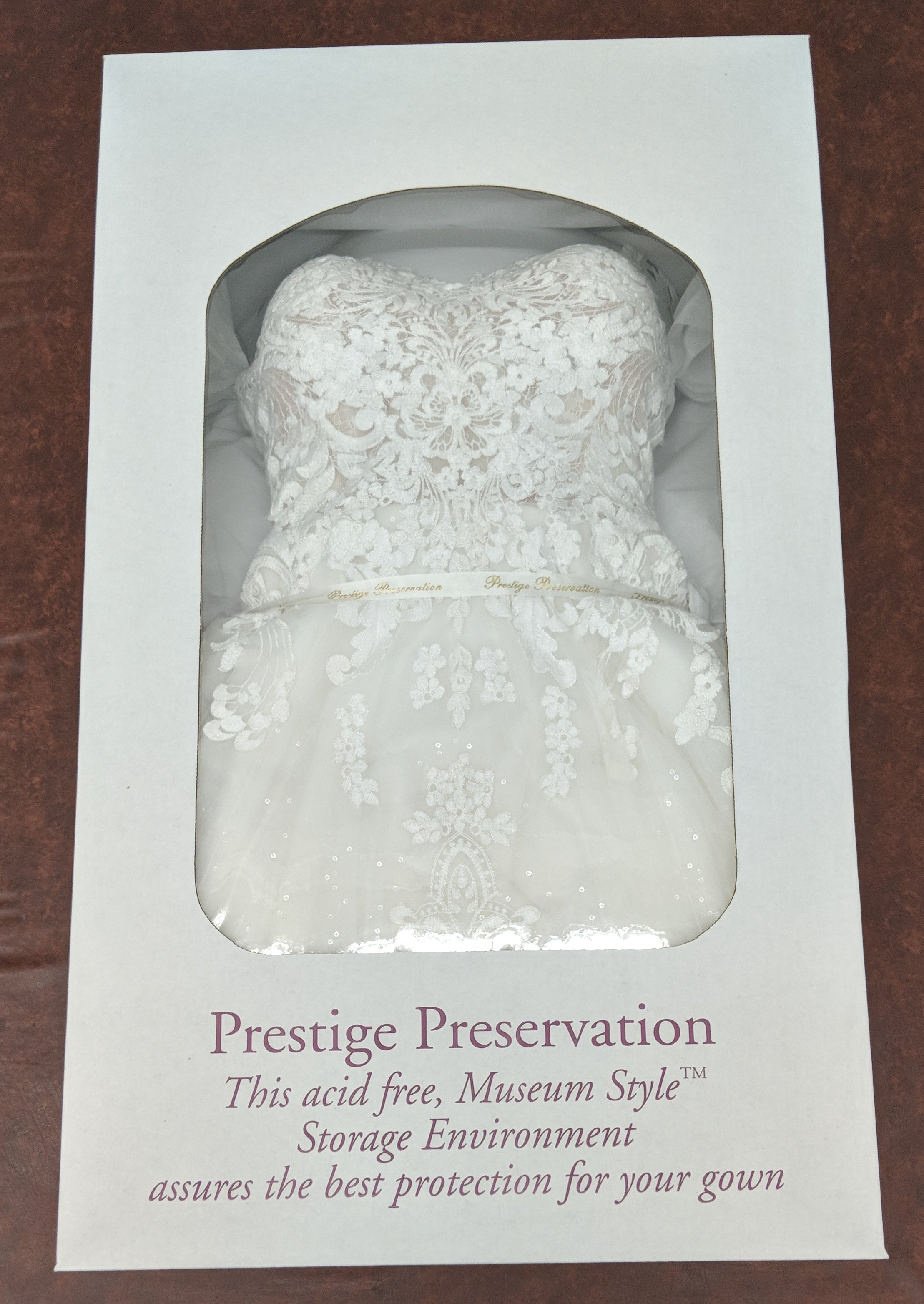 Wedding Gown Cleaning + Preservation + Two Accessories