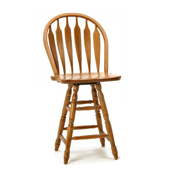 Chestnut Wide Arrow Counter Stool