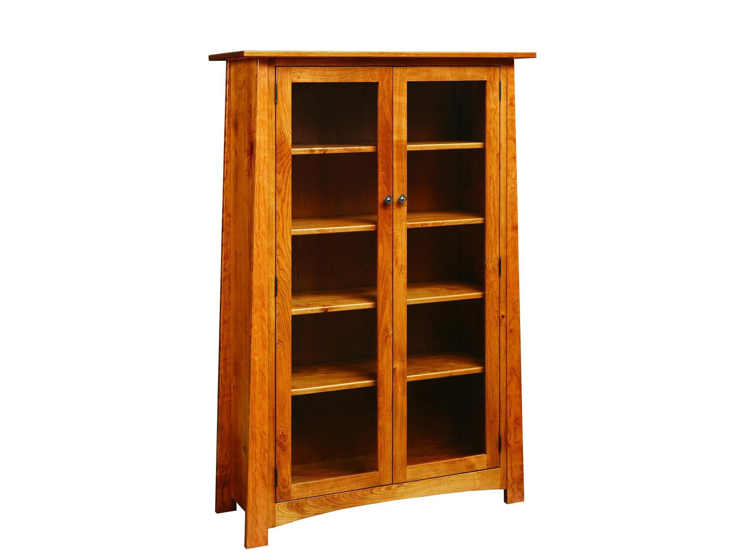 Country Value Craftsmen Bookcase W Glass Doors