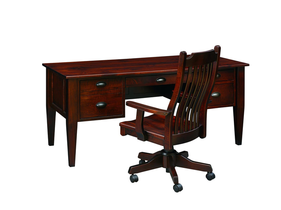 66'' Executive Desk with File Drawer