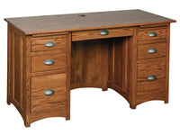 "55"" Desk w/ 2 File Drawers"