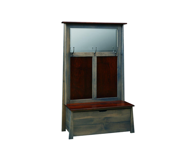Hall Seat w/ Beveled Mirror