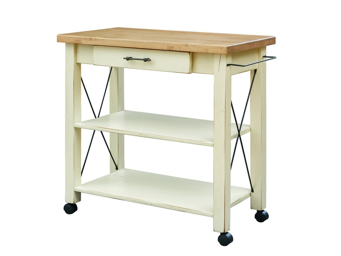 "36'' Butler with 1½"" thick Top edge and castors"