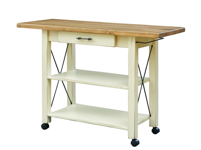 "52'' Butler with 1½"" thick Top edge and castors"