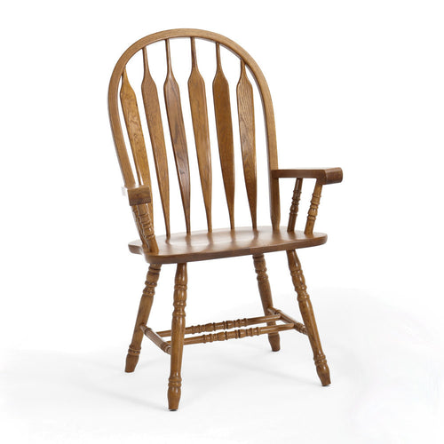 Chestnut Arrow Arm Chair