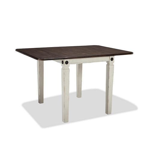 Drop Leaf Table | White & Charcoal