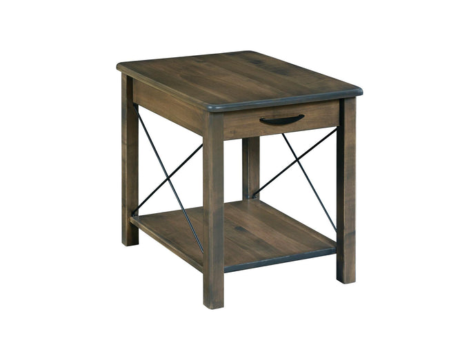 Crossway Lg End Table with Drawer