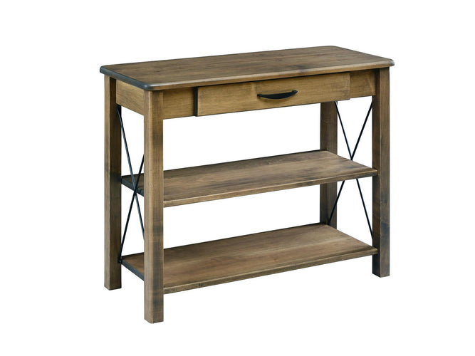 Crossway Console Table with 2 shelves and Drawer