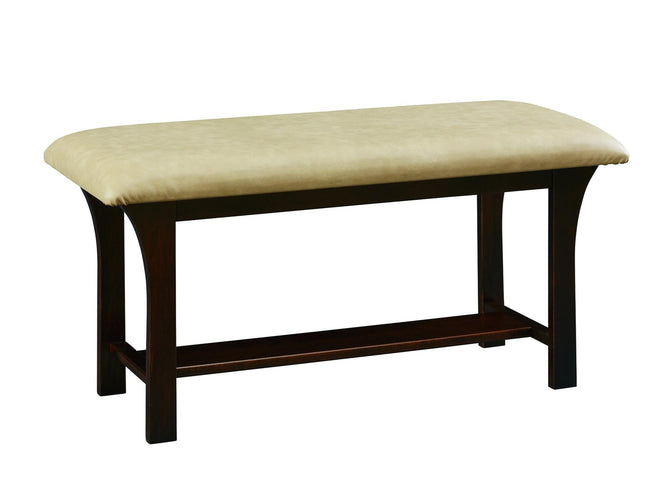Bench w/ Bonded Leather Seat