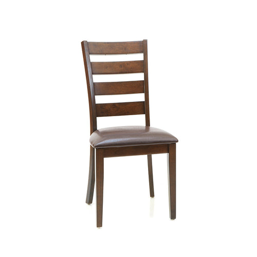 Ladder Back Side Chair | Raisin