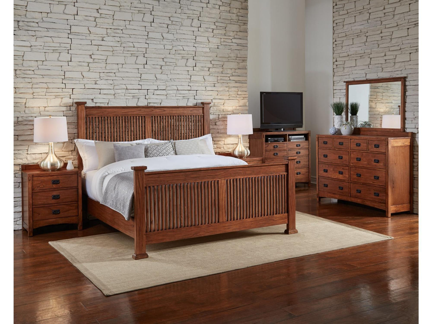 A-America - Mission Hill Queen Slat Bed