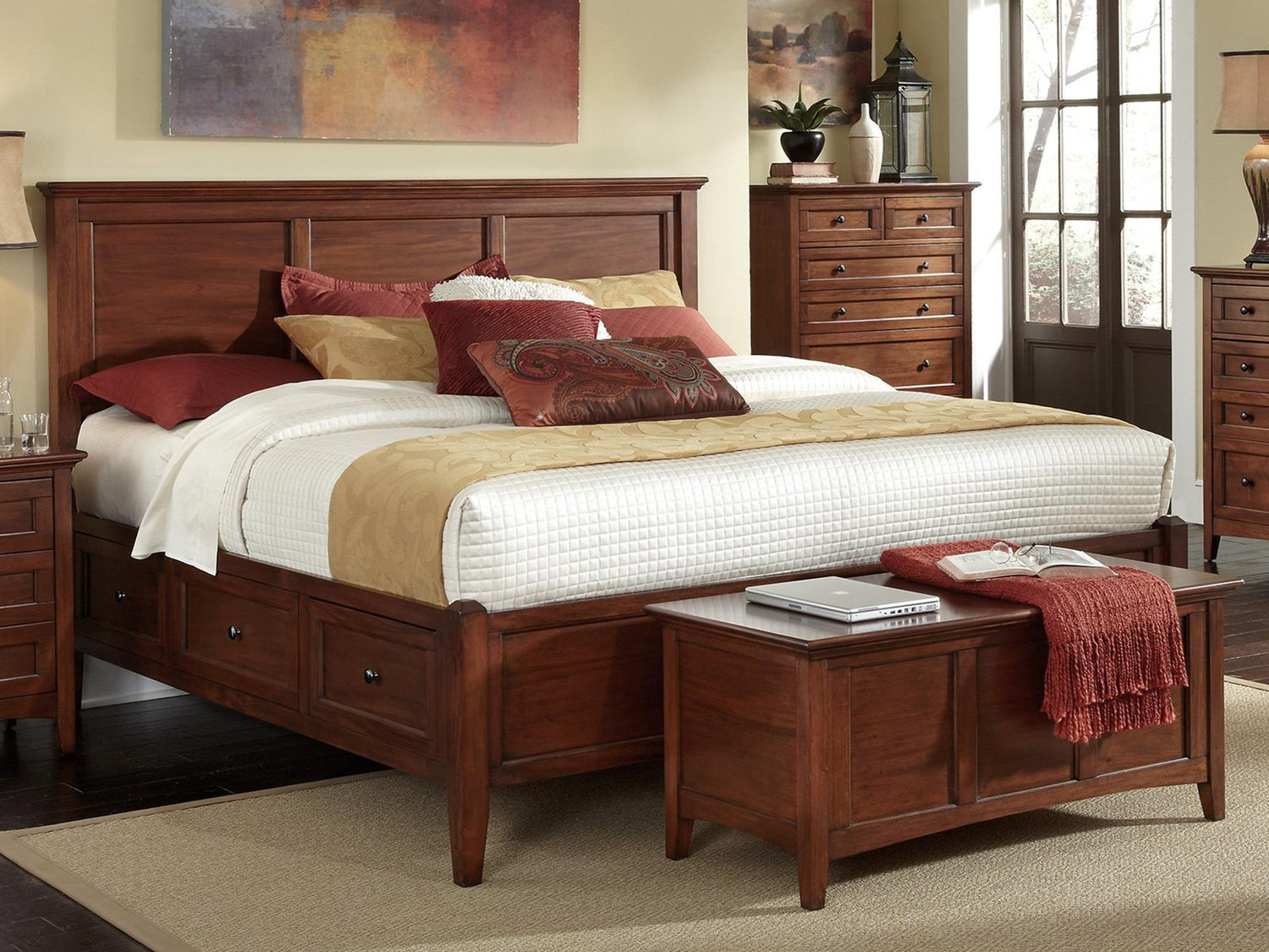 A-America - Westlake Queen Storage Bed