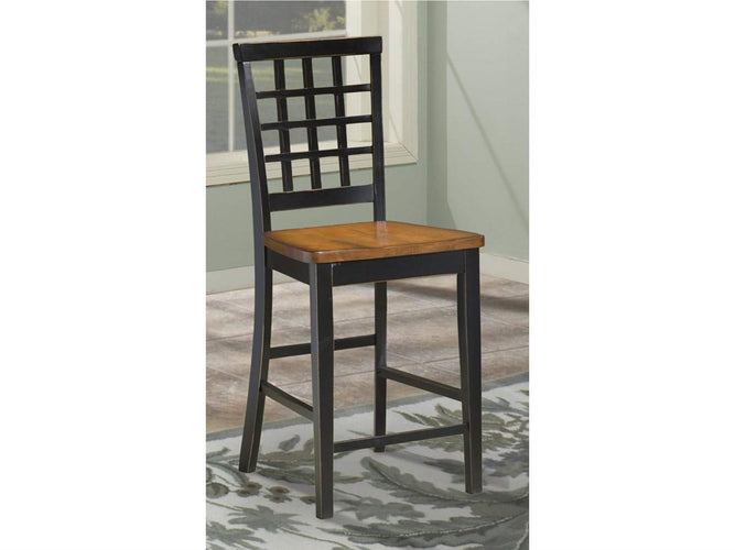 Lattice Back Counter Stool