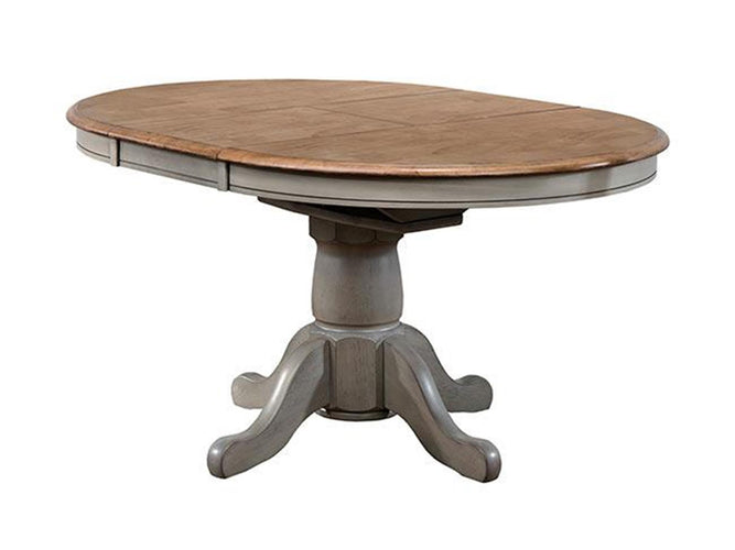 "57"" Pedestal Table w/ 15 in Butterfly Leaf"
