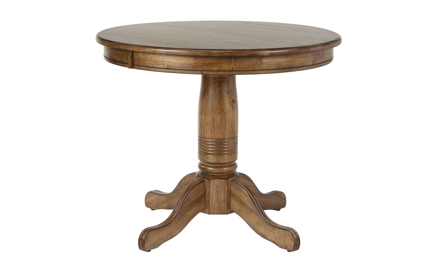 36 in Solid Wood Round Pedestal Table