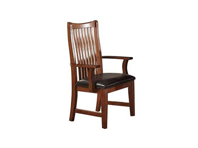 Raised Slat Back Arm Chair