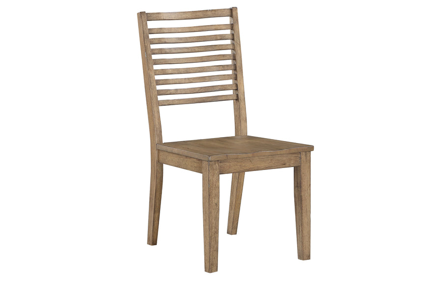 Curved Slat Back Chair