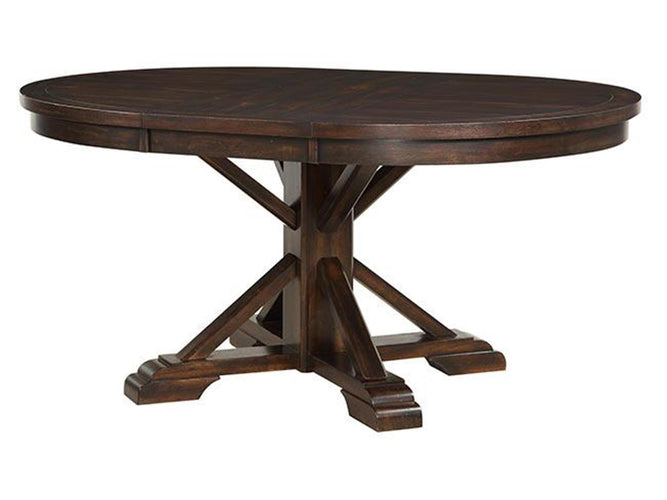 "66"" Pedestal Table w/ 18"" Leaf"
