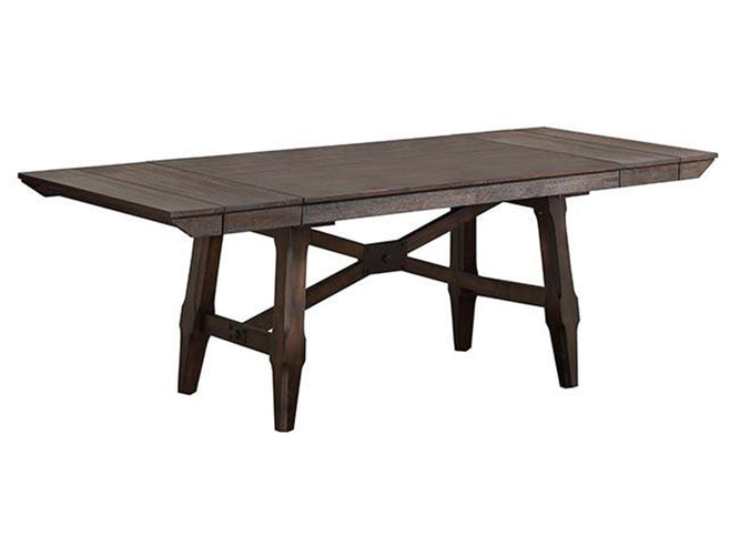 96 in Trestle Table w/ 2-12 in leaves