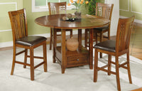 "60"" Round Table with Granite Lazy Susan (36"" H)"