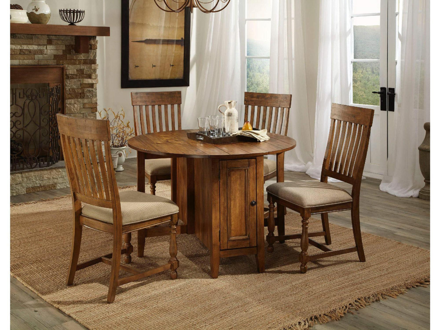 Rustic Mission Drop Leaf Dining Table Dining furniture in
