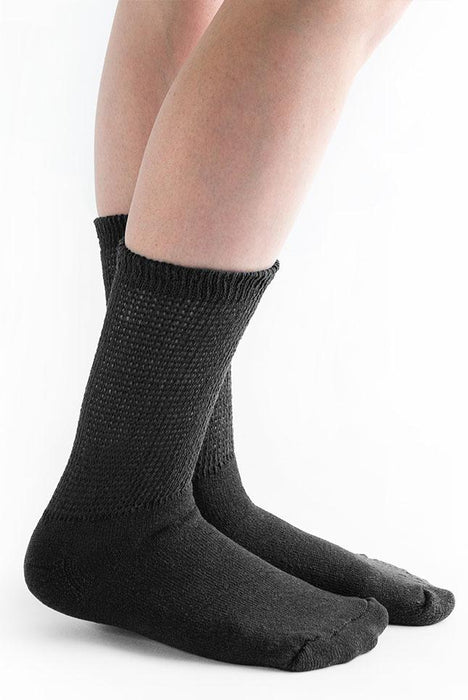 Doc Ortho Loose Fit Diabetic Crew Socks, 3 pairs