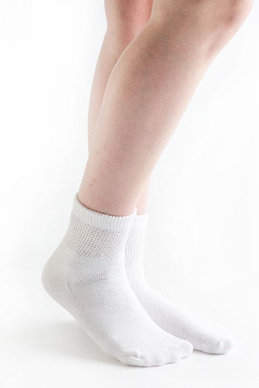 Doc Ortho Loose Fit Diabetic 1/4 Crew Socks, 3 pairs