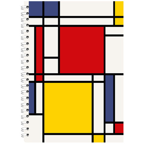 "Blocchi notes spiralati ""Mondrian"" - A4 - 1 rigo"