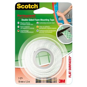 Nastro biadesivo forte Scotch - 19 mm x 1,5 m - 33-1915B12