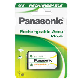 Blister 1 Transistor Ricaricabile Ready To Use 9V Panasonic