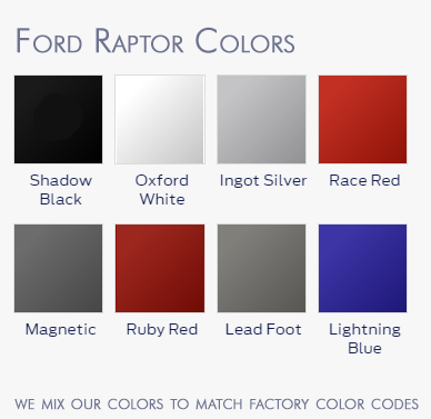 ford colour code race red