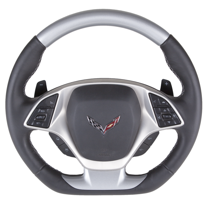 Corvette C7 – Color-Matched Custom Steering Wheel