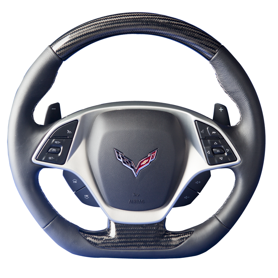 Corvette C7 – Carbon Fiber Custom Steering Wheel