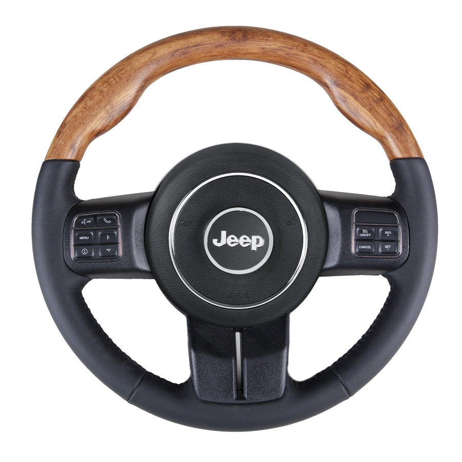 Wrangler JK – English Brown Oak Custom Steering Wheel