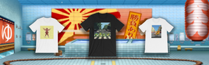 Retro Gaming T Shirts Street Fighter and Teenage Mutant Ninja Turtles
