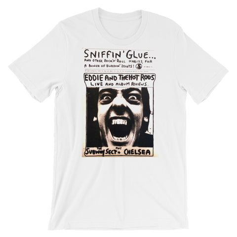 sniffin glue punk t shirts eddie and the hotrods