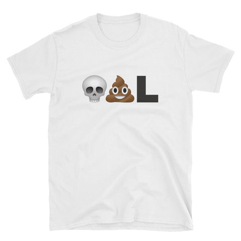 deadpool emoji t-shirt skull poo L comic book geek merchandise