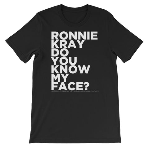 ronnie kray do you know my face morrissey black t-shirt