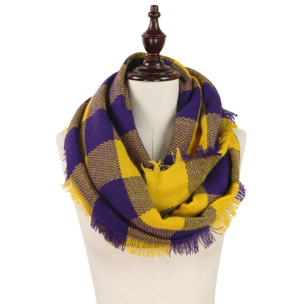 Purple & Yellow Infinity Scarf