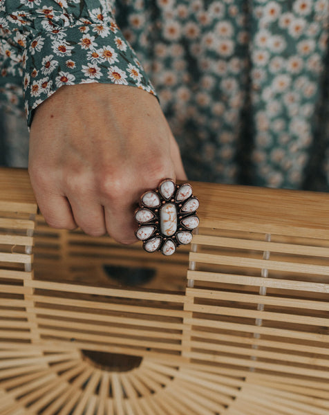 Flower Child Statement Ring