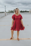 Raspberry Ruffles Dress