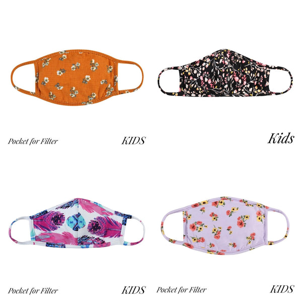 Kids Cloth Masks -  Various Prints