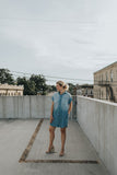 chambray shirt dress women's short sleeve